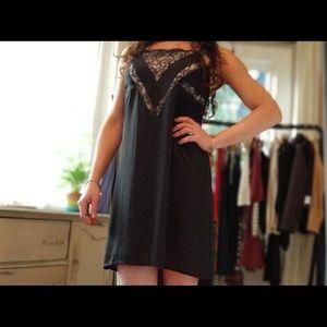 Express Little Black Dress (lace & white front) 🌹